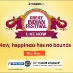 Amazon Great Indian Festival Sale Offers 2020 : Start on 17th October